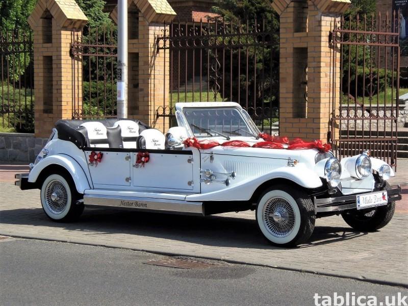 Zabytkowe samochody do ślubu Auta RETRO na wesele kabriolet 27
