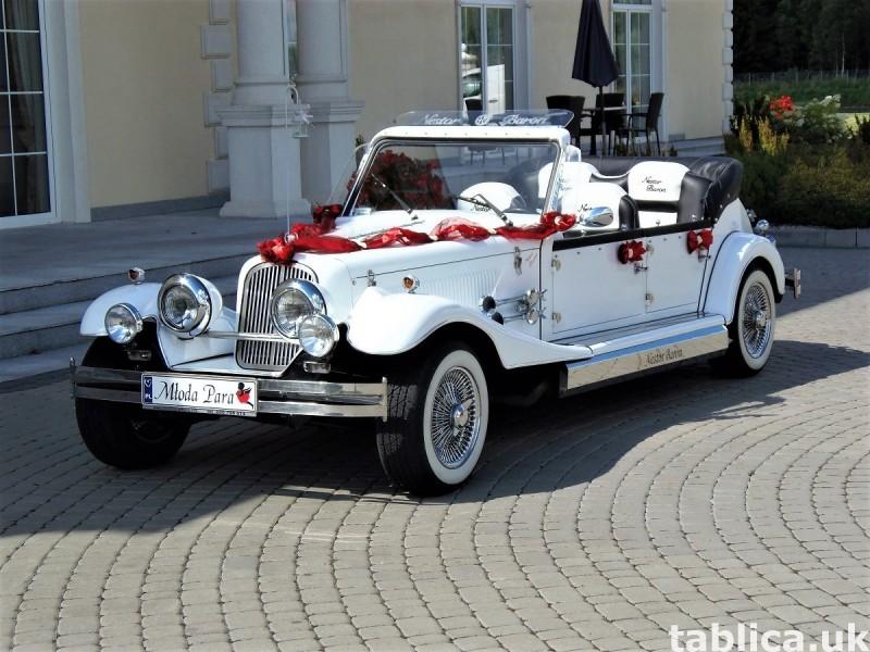 Zabytkowe samochody do ślubu Auta RETRO na wesele kabriolet 28