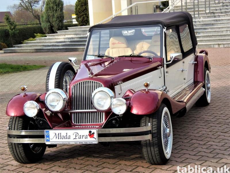 Zabytkowe samochody do ślubu Auta RETRO na wesele kabriolet 29