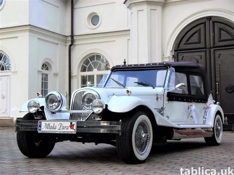 Zabytkowe samochody do ślubu Auta RETRO na wesele kabriolet 31