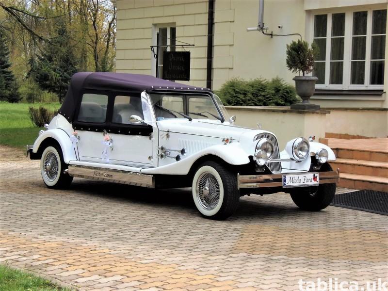 Zabytkowe samochody do ślubu Auta RETRO na wesele kabriolet 32