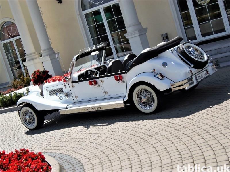 Zabytkowe samochody do ślubu Auta RETRO na wesele kabriolet 35