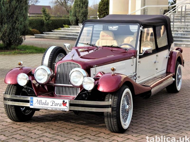 Zabytkowe samochody do ślubu Auta RETRO na wesele kabriolet 38