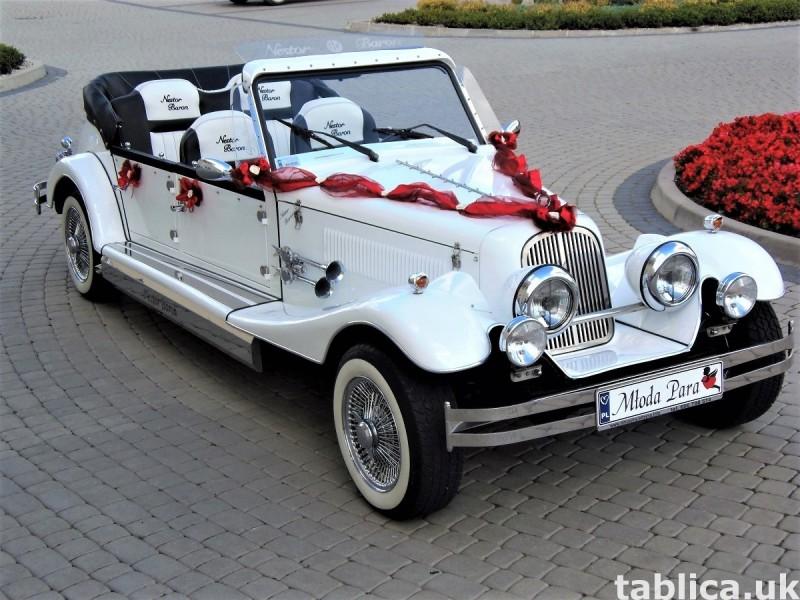 Zabytkowe samochody do ślubu Auta RETRO na wesele kabriolet 39