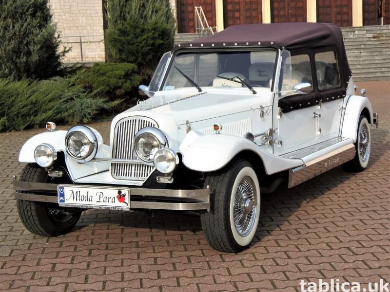 Zabytkowe samochody do ślubu Auta RETRO na wesele kabriolet 40