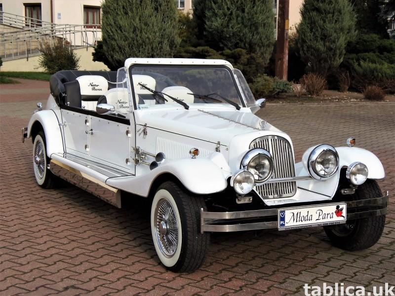 Zabytkowe samochody do ślubu Auta RETRO na wesele kabriolet 43