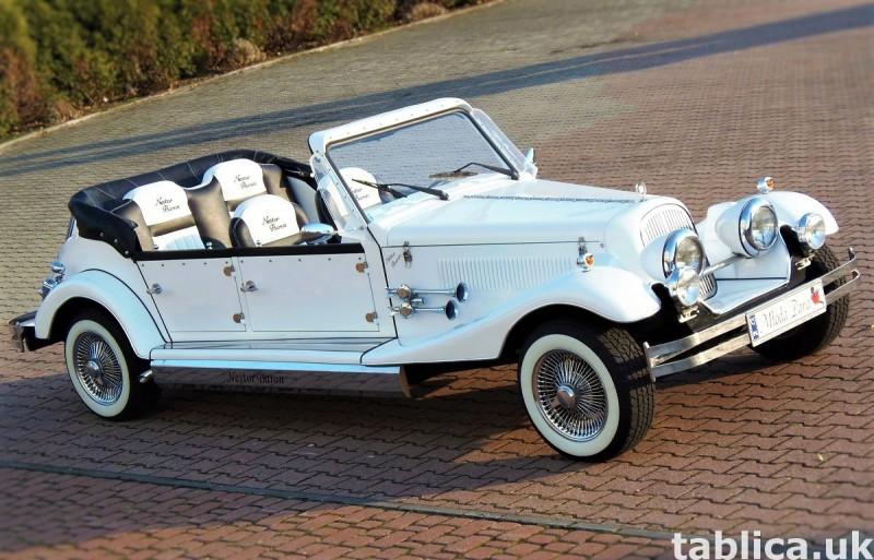 Zabytkowe samochody do ślubu Auta RETRO na wesele kabriolet 44
