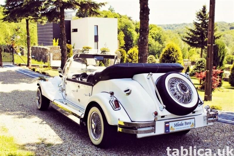 Zabytkowe samochody do ślubu Auta RETRO na wesele kabriolet 46