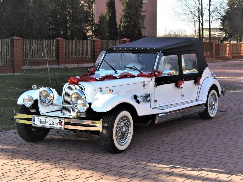 Zabytkowe samochody do ślubu Auta RETRO na wesele kabriolet 50