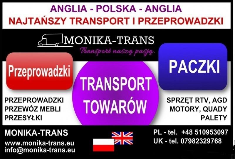 Monika-Trans Najtańszy Transport i Przeprowadzki w UK-Pl 0