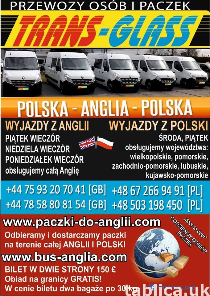TRANSPORT OSÓB I PACZEK POLSKA-ANGLIA 0