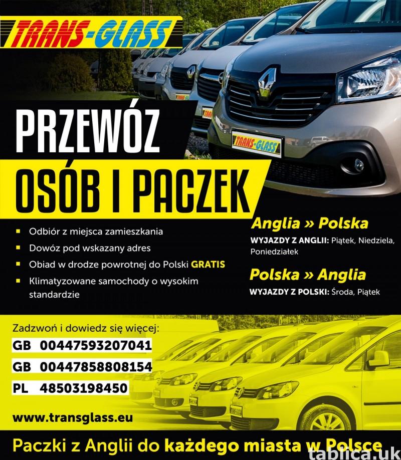 TRANSPORT OSÓB I PACZEK POLSKA-ANGLIA 1