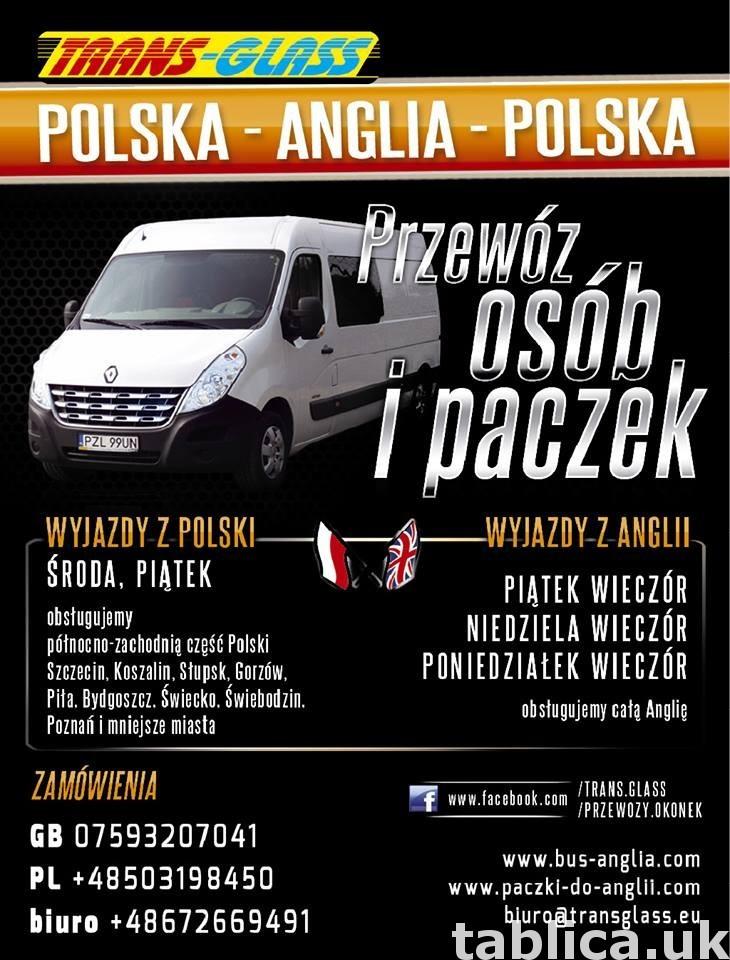 TRANSPORT OSÓB I PACZEK POLSKA-ANGLIA 2