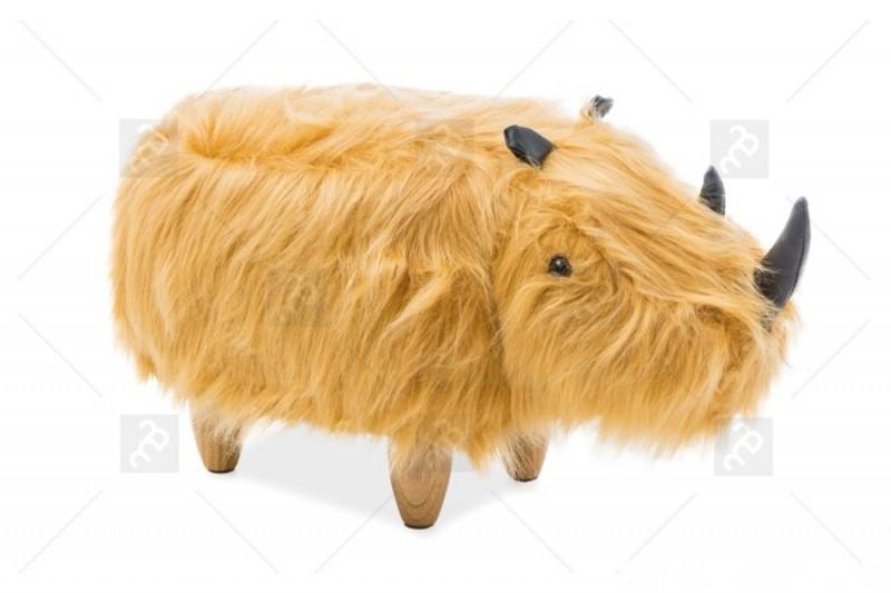 Pufa nosorożec Norbert - Brązowy od meble bogart 0