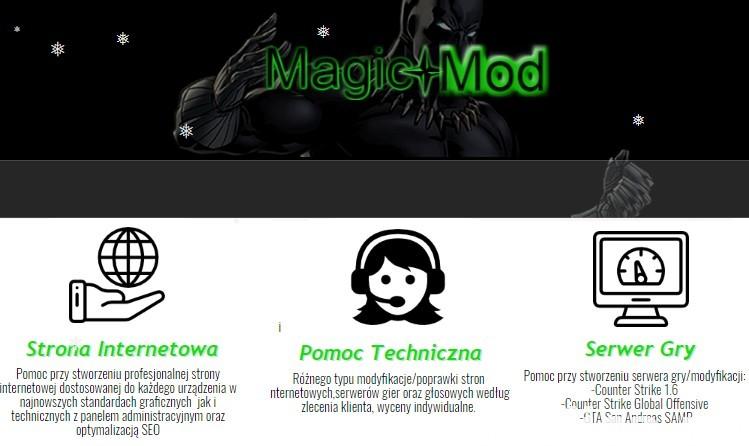 MagicMod.pl-Strona WWW od 299 PLN - Projektowanie Stron 1