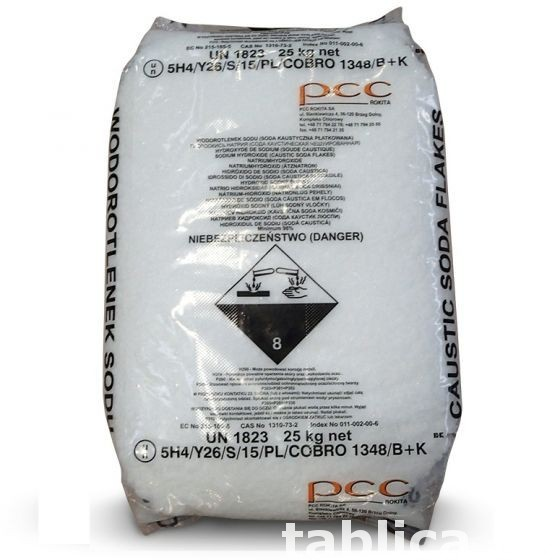 Sodium hydroxide, caustic soda 1000 kg - flakes 1