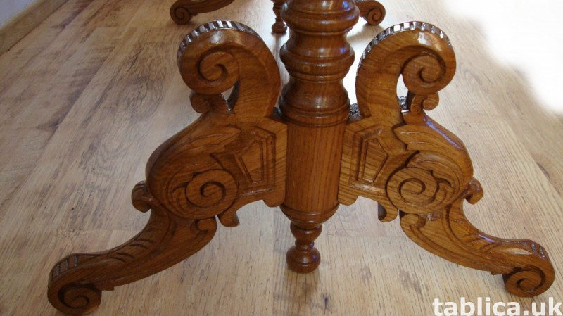 The Hand Made OAK Table-SOLID WOOD, NEW !! Master Sculpture  3