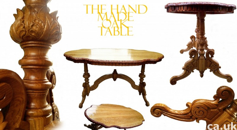 The HandMade OAK Table - SOLID WOOD NEW !! Master Sculpture 9