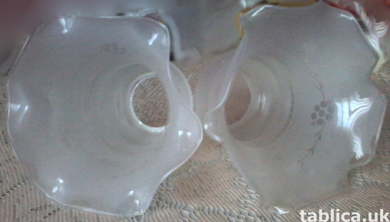 For Sale: 2 Glass Lampshades 0