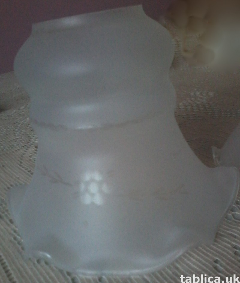 For Sale: 2 Glass Lampshades 5