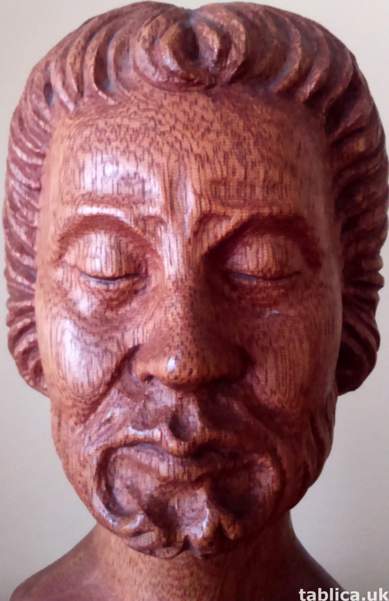 For Sale: Bust from Wood: Old Man - Solid Wood !!! 2