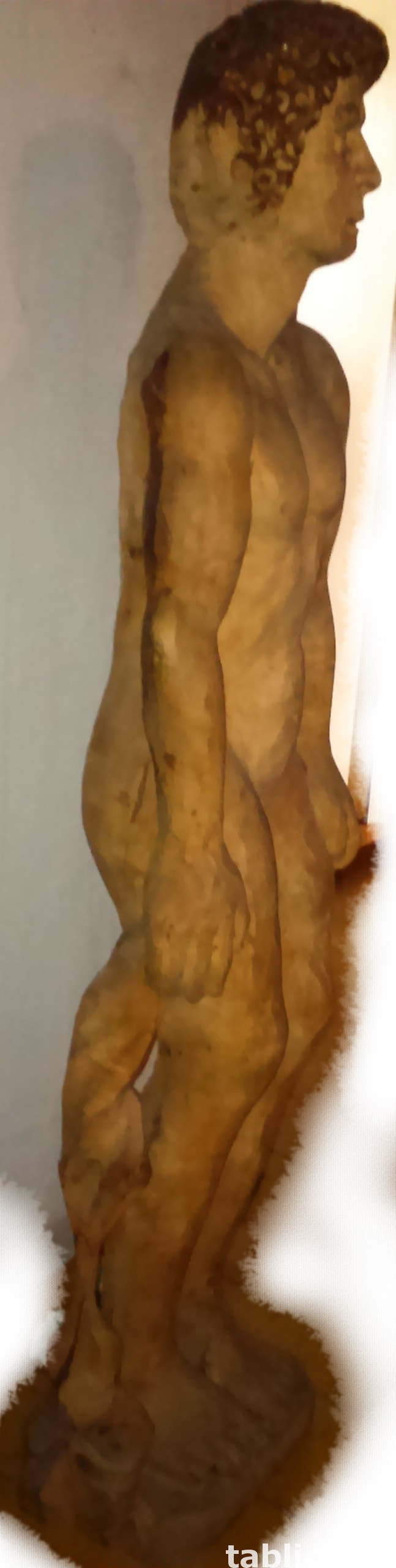 For Sale: Sculpture: The Looking Man - Solid Wood !!! 4