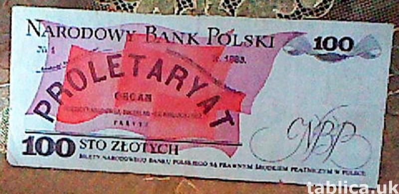For Sale: Banknote: National Bank of Poland Proletaryat 100  2