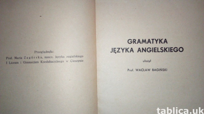 For Sale: E-Book: English Grammar - Wacław Bagiński 1
