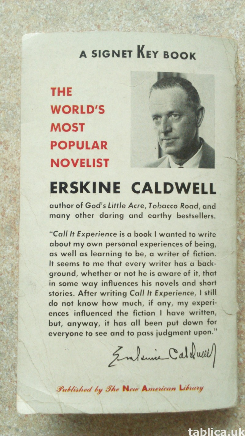 For Sale: Call It Experience - Erskine Caldwell  1