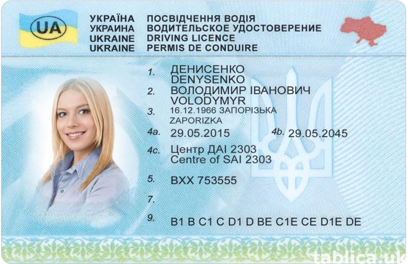 Prawo jazdy * Ukraina * Meldunek * Legalnie 0