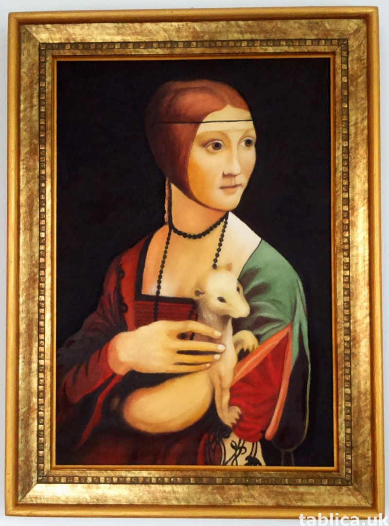 The Lady with en Ermine -Original Oil Copy-Not Photocopy !!! 0
