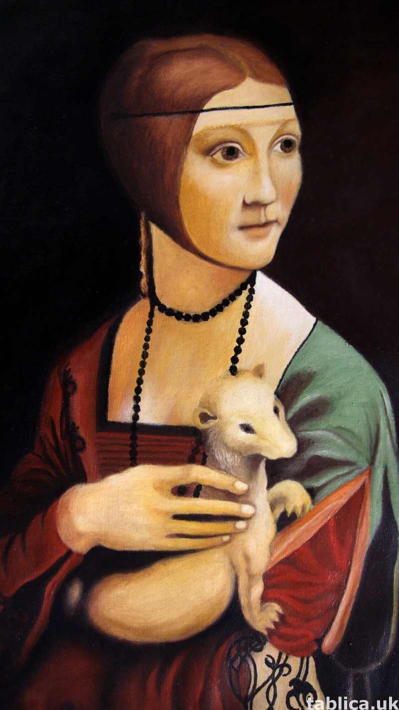 The Lady with en Ermine -Original Oil Copy-Not Photocopy !!! 1