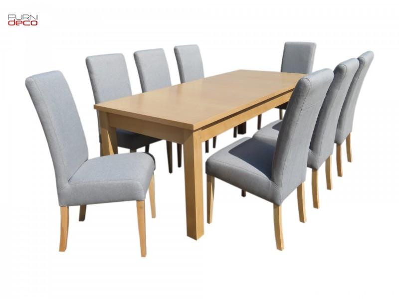 Duży Elegancki Zestaw 8 Tapicerowanych Krzeseł + Stół 0