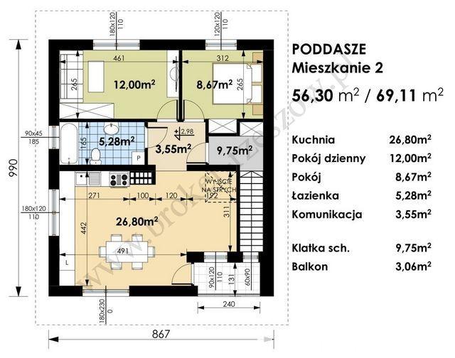 Mieszkanie 3-pokojowe z antresolą - spokojna okolica 3