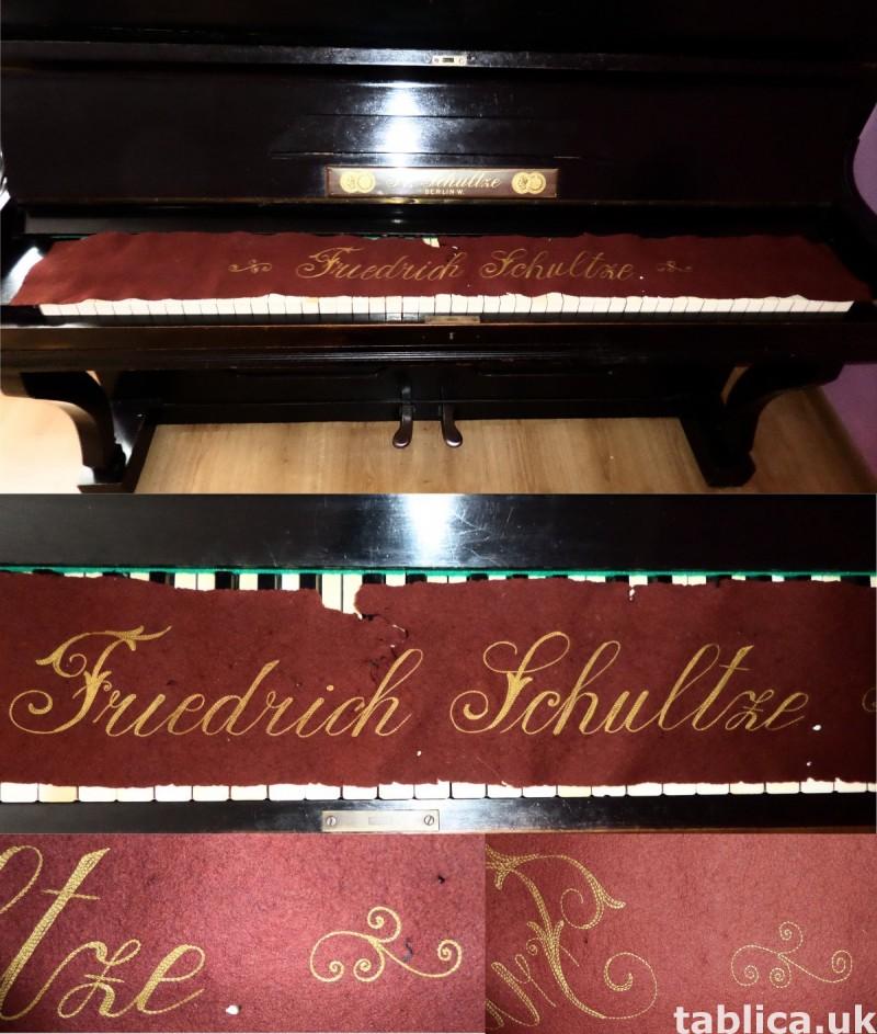 Antique Piano: Fr. Schultze Berlin W. 1827 - 192y WORKS !!! 2