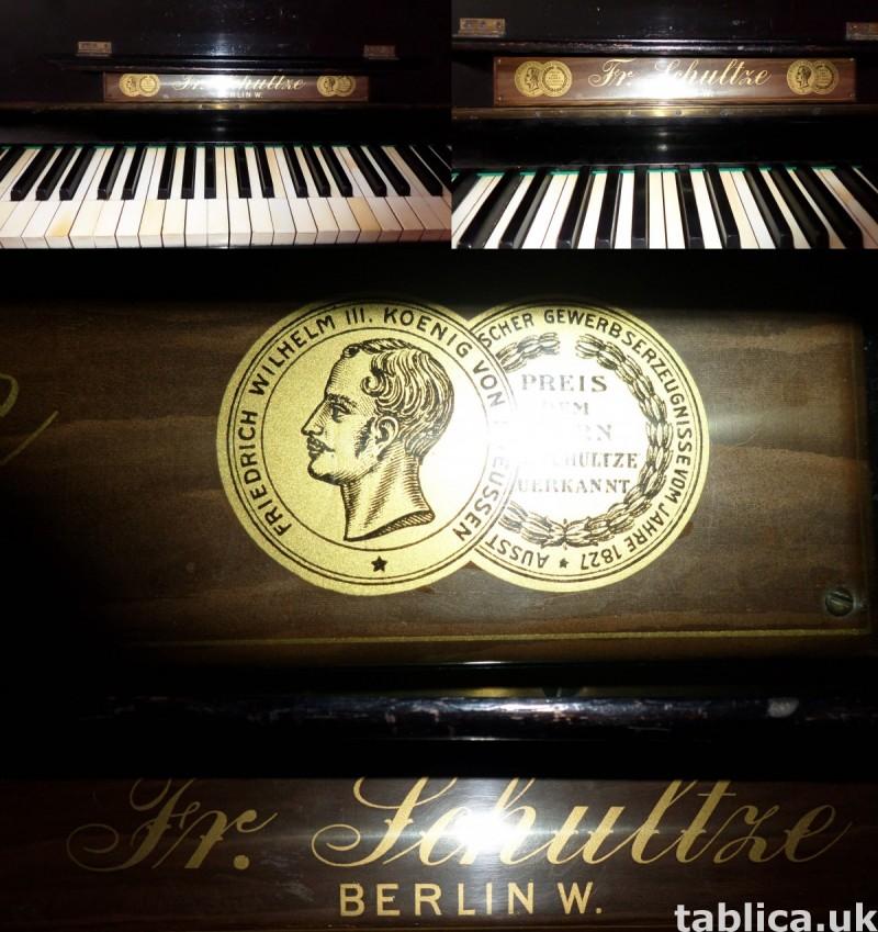Antique Piano: Fr. Schultze Berlin W. 1827 - 192y WORKS !!! 3