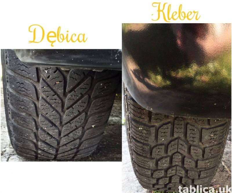 4 Orig. Tires: 2 DĘBICA - Frigo 2 and 2 KLEBER - Krisalp HP 1