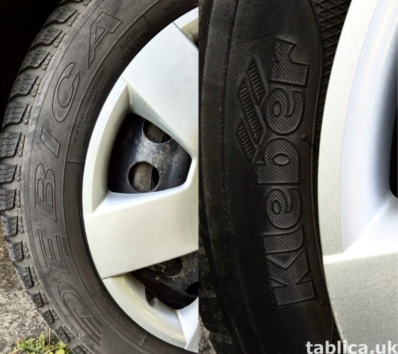 4 Orig. Tires: 2 DĘBICA - Frigo 2 and 2 KLEBER - Krisalp HP 4