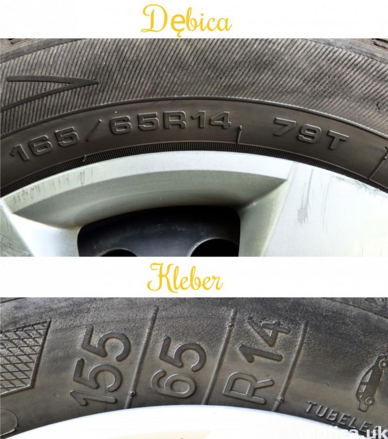 4 Orig. Tires: 2 DĘBICA - Frigo 2 and 2 KLEBER - Krisalp HP 5