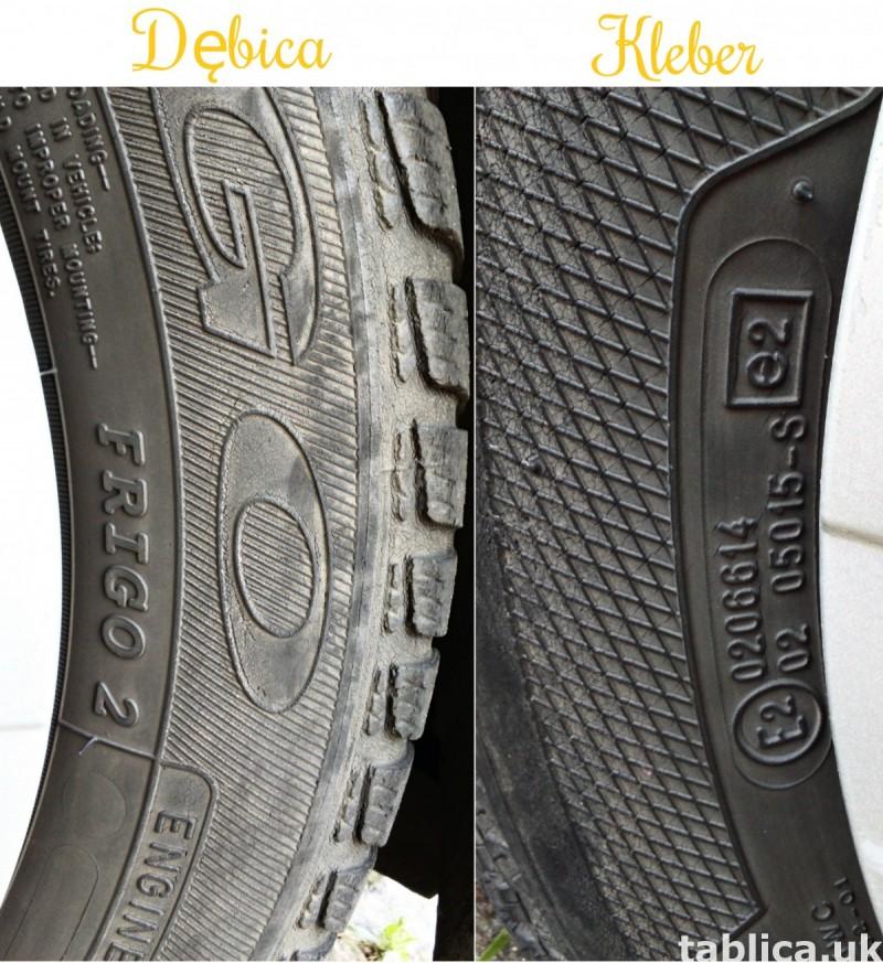 4 Orig. Tires: 2 DĘBICA - Frigo 2 and 2 KLEBER - Krisalp HP 7
