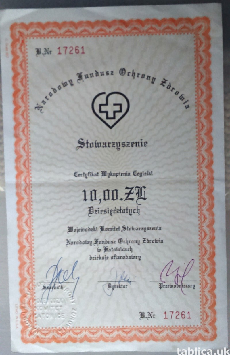 For Sale: 2 Original Brick Certifications 2