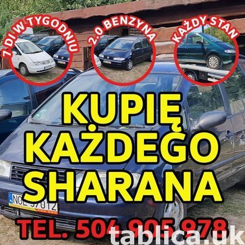 Skup VW Sharan, Kupię Każdego Sharana 2.0 Benzyna   0