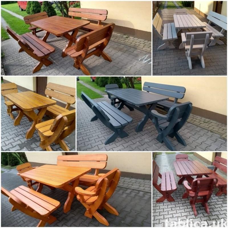meble ogrodowe stół + 2 ławy + 2 fotele 0