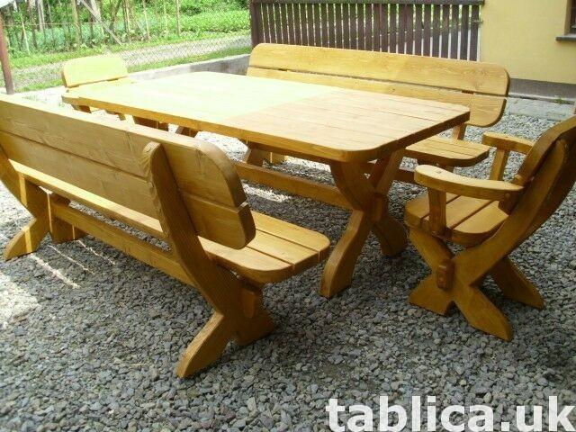 meble ogrodowe stół + 2 ławy + 2 fotele 1