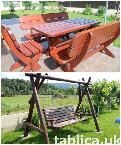 meble ogrodowe stół + 2 ławy + 2 fotele 4