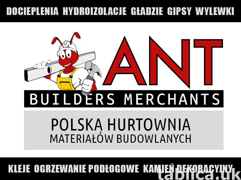 Materiały i narzędzia budowlane tylko w hurtowni ANT BM 0