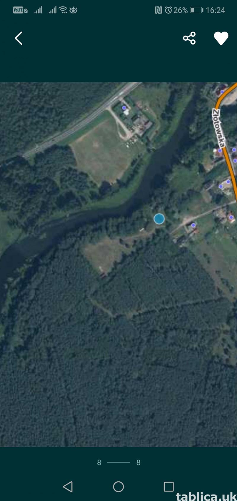 Działka budowlano-uslugowa z linią brzegową rzeki Gwda 4