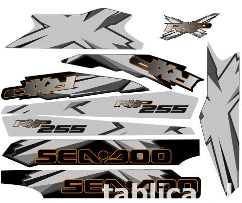 Stickers for water scooter RXP, RXT, Super Jet, VX, FZS and  4