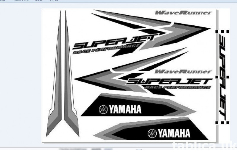 Stickers for water scooter RXP, RXT, Super Jet, VX, FZS and  6
