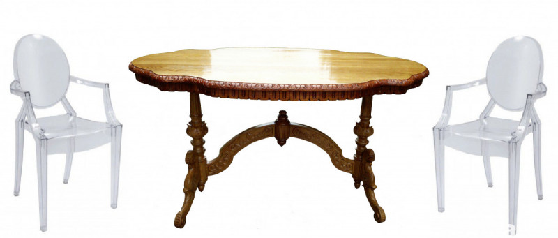 Hand Made Oak Table - Solid Wood NEW! 6